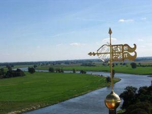 Blick vom Schloss Hartenfels Torgau