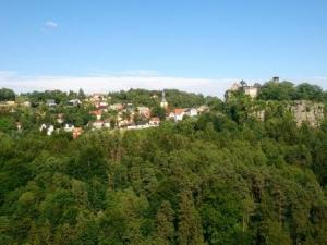 Landschaft an der D4-Mittellandroute: Sächsische Schweiz