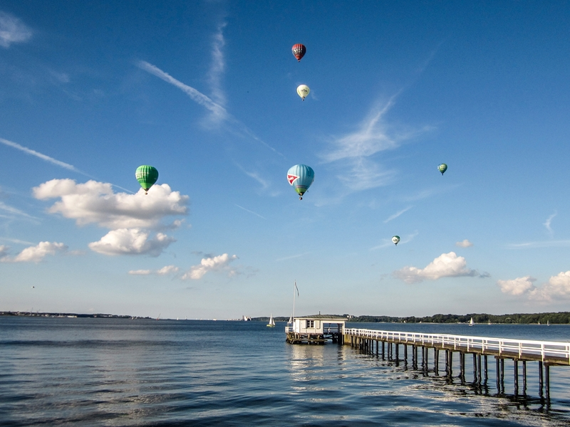 Ballone über der Förde © Landeshauptstadt Kiel - Sabine Gerchow
