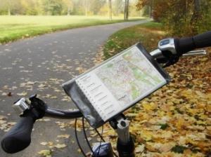 Radwanderkarte am Lenker angebracht (c) AugustusTours