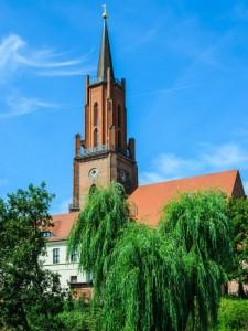 St. Marien-Andreas Kirche Rathenow am Hamburg-Berlin Fernradweg (c) Horst Schröder, pixelio.de