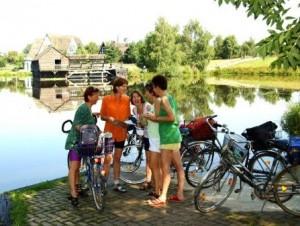 Fahrradfahrer auf Radreise © Südheide Gifhorn