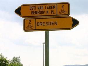 Wegweiser am Elberadweg in Tschechien (c) AugustusTours