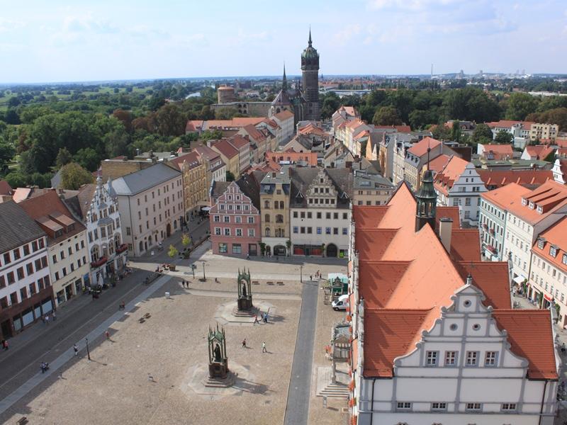 Wittenberger Markt von oben (c) Marit Schaller